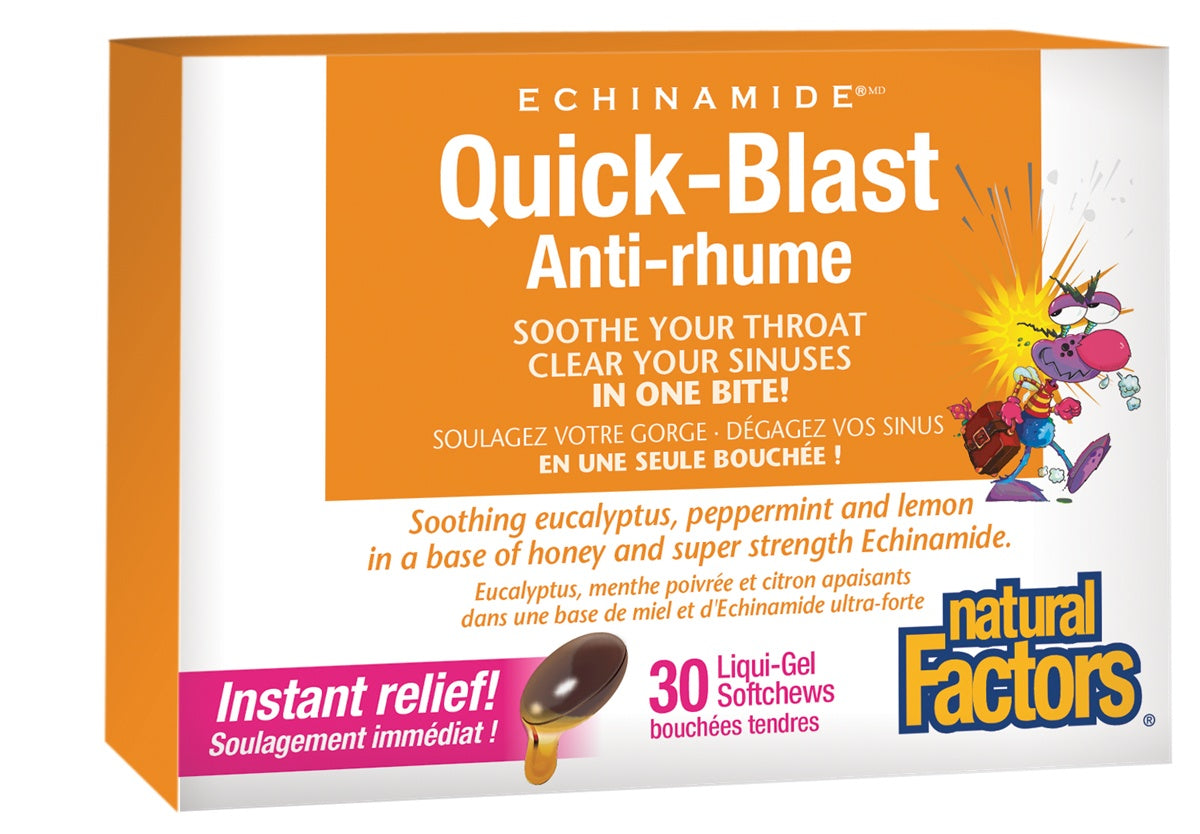 Supplements & Vitamins - Natural Factors - Quick-Blast Echinamide®, 30 Chews