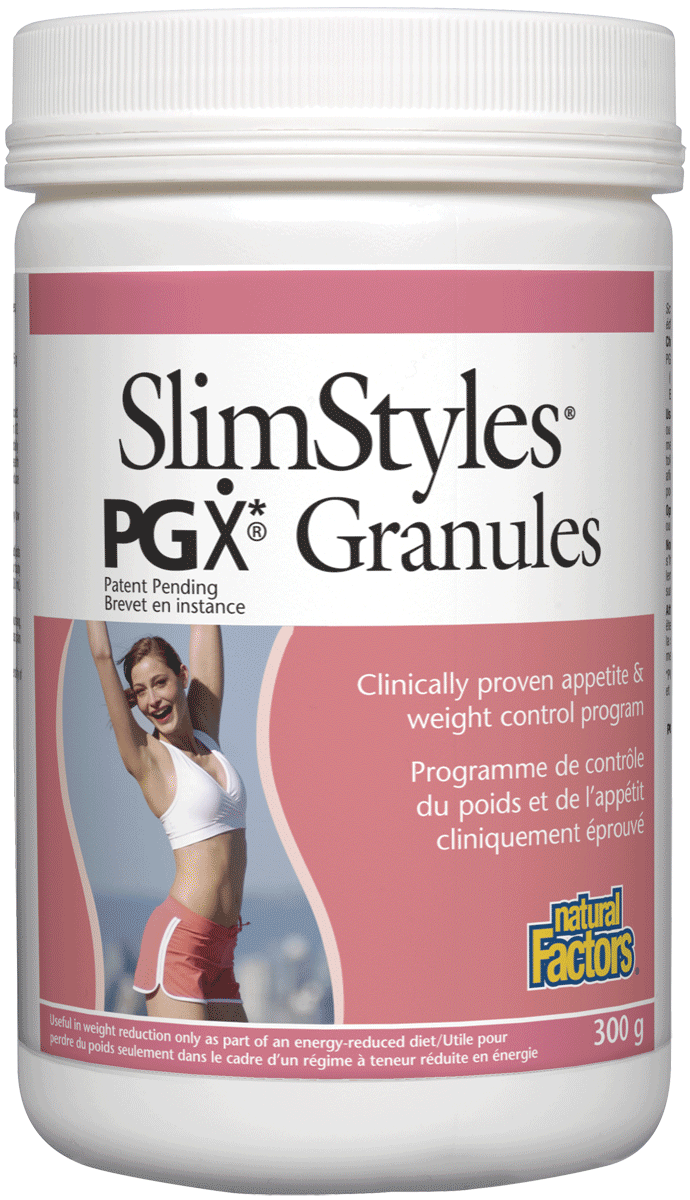 Supplements & Vitamins - Natural Factors - SlimStyles PGX Granules, 300g