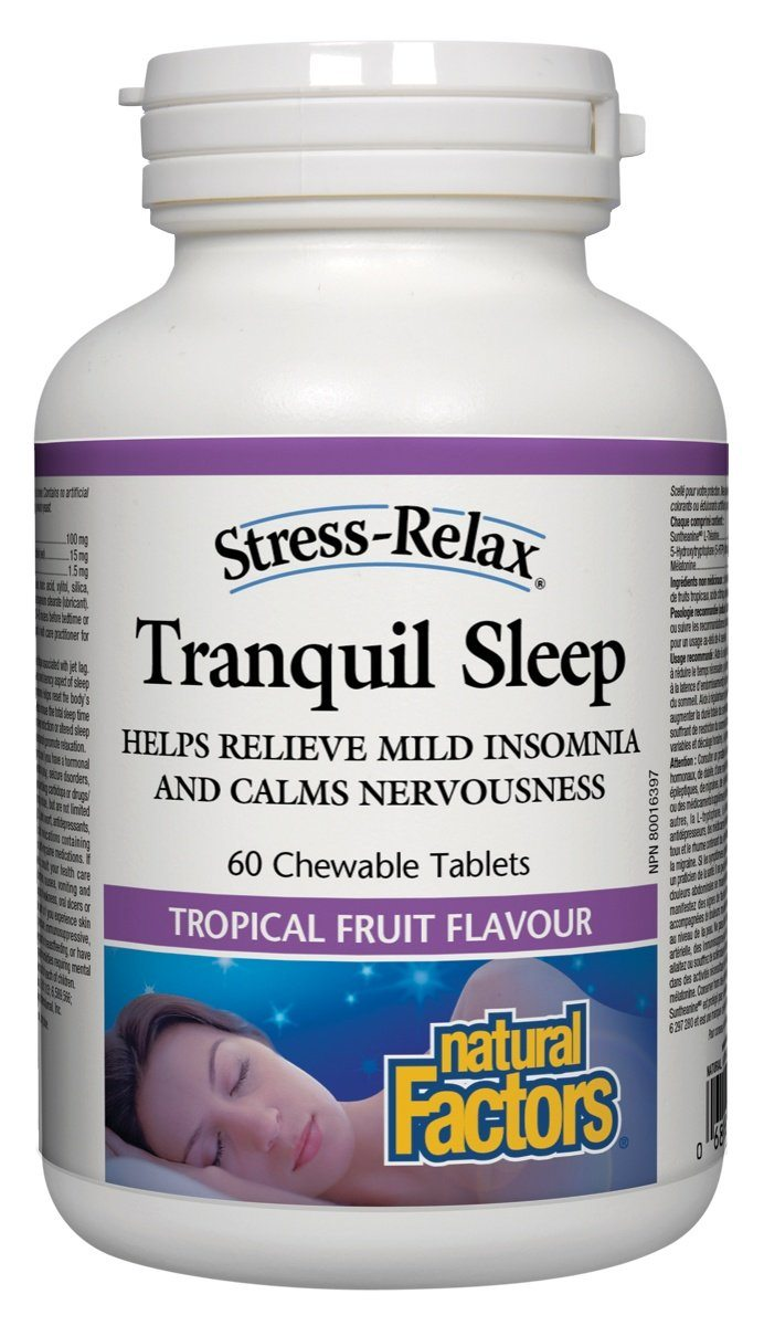Supplements & Vitamins - Natural Factors - Tranquil Sleep, 60 Tablets