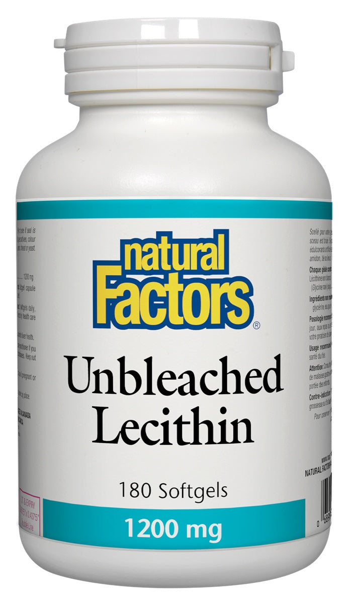 Supplements & Vitamins - Natural Factors - Unbleached Lecithin -180 Softgels