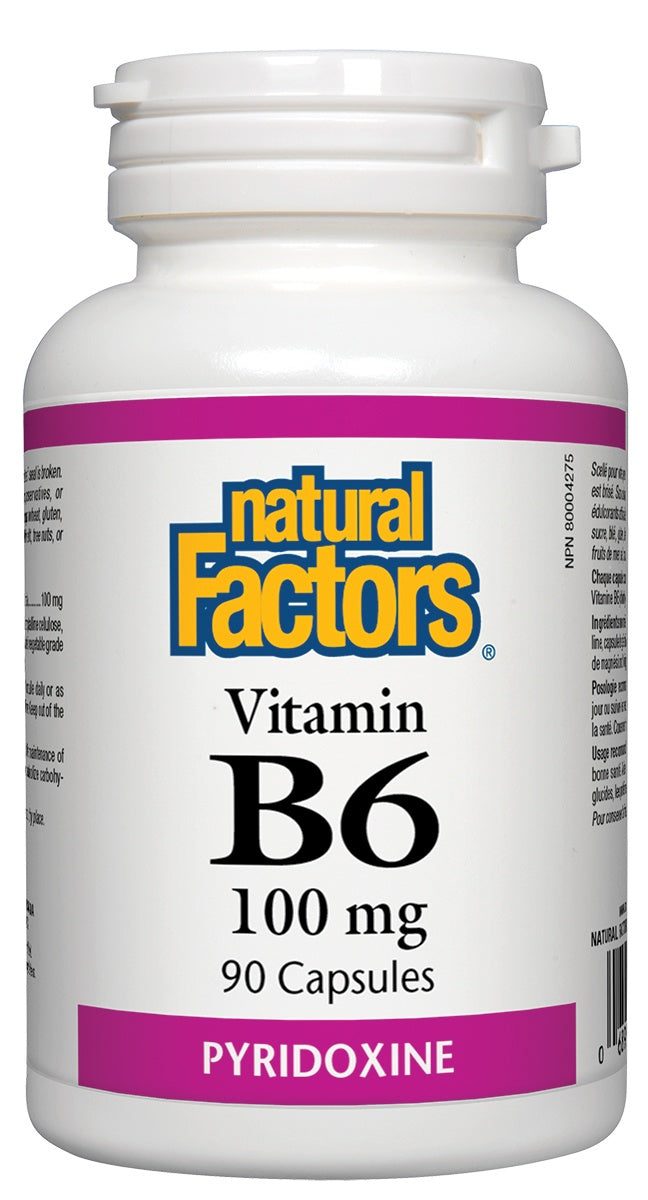 Supplements & Vitamins - Natural Factors - Vitamin B6 - 100mg, 90 Capsules