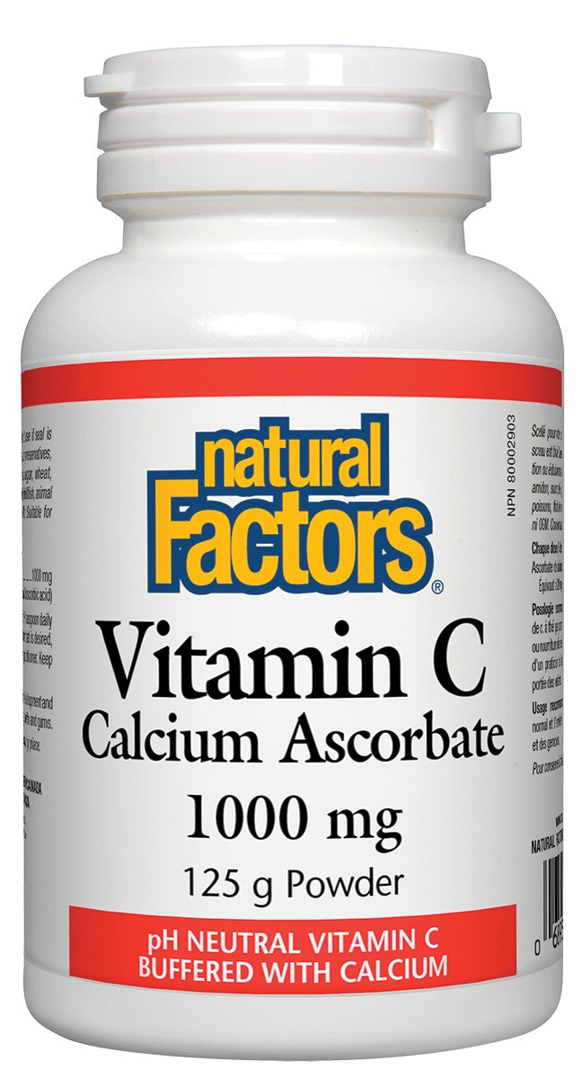 Supplements & Vitamins - Natural Factors - Vitamin C 1000 Mg Calcium Ascorbate Powder, 125g Powder