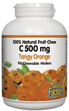 Supplements & Vitamins - Natural Factors - Vitamin C Tangy Orange, 90 Chewables