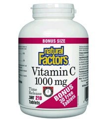 Supplements & Vitamins - Natural Factors - Vitamin C Time Release - Bonus, 210 Tabs