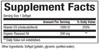 Supplements & Vitamins - Natural Factors - Vitamin D3 - 1,000IU, 500 Softgels