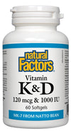 Supplements & Vitamins - Natural Factors - Vitamin K&D, 60 Softgels