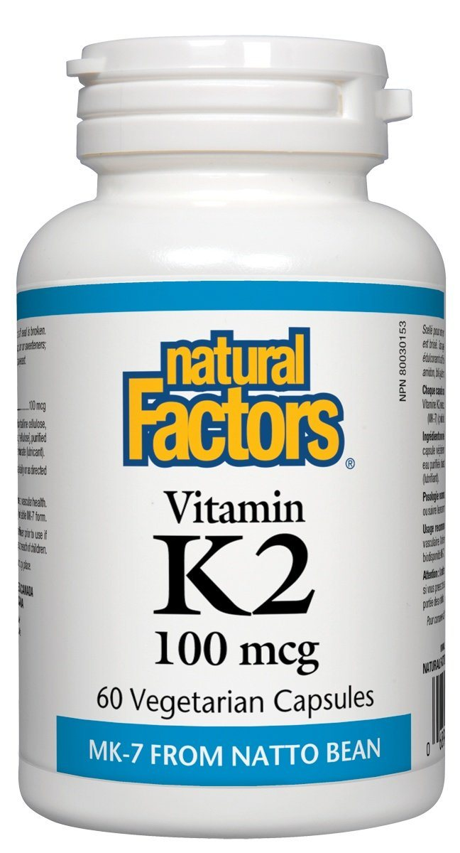 Supplements & Vitamins - Natural Factors - Vitamin K2, 60 Capsules