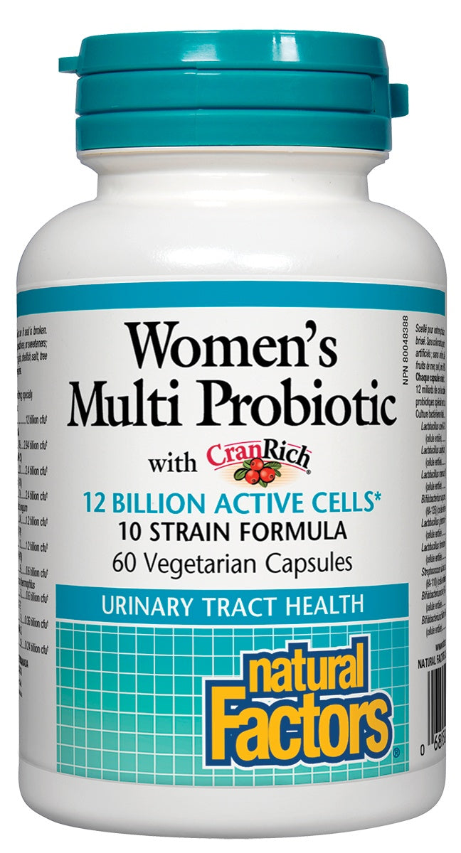 Supplements & Vitamins - Natural Factors - Women's Multi Probiotic - 60 Capsules