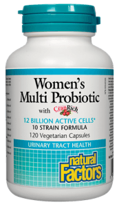 Supplements & Vitamins - Natural Factors - Women's Multi Probiotic With CranRich, 120caps