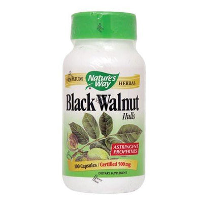 Supplements & Vitamins - Nature's Way - Black Walnut Hulls, 100 Capsules