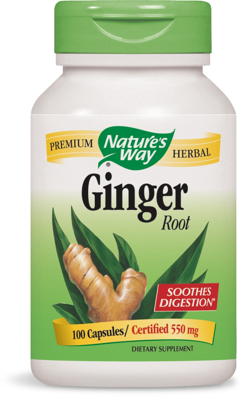 Supplements & Vitamins - Nature's Way - Ginger Root - 100 Caps