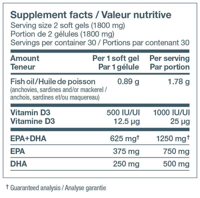 Supplements & Vitamins - Nature's Way - NutraSea+D - 60 Softgel