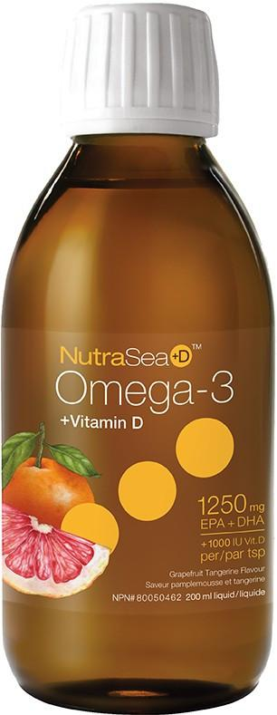 Supplements & Vitamins - Nature's Way - NutraSea+D - Grapefruit Tangerine, 200ml