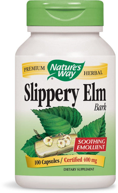 Supplements & Vitamins - Nature's Way - Slippery Elm Bark, 100 Caps