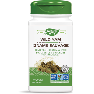 Supplements & Vitamins - Nature's Way - Wild Yam Root, 100 Capsules