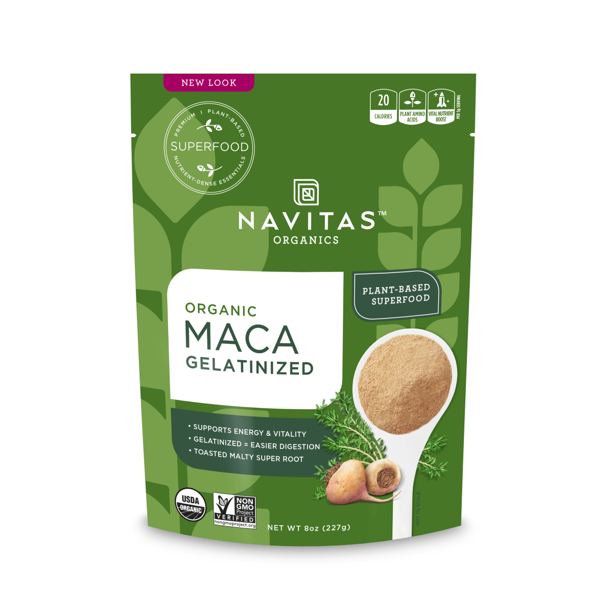 Supplements & Vitamins - Navitas Organics - Organic Maca Gelatinized Powder, 227g