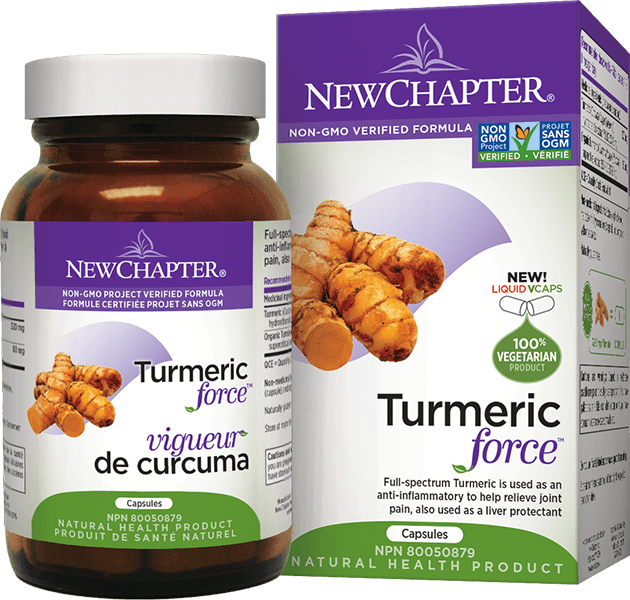 Supplements & Vitamins - New Chapter - Turmeric Force® Licap, 120 Capsules