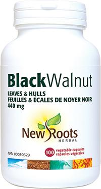 Supplements & Vitamins - New Roots Herbal - Black Walnut Leaves & Hulls, 100 CAPS