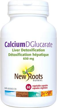 Supplements & Vitamins - New Roots Herbal - Calcium D-Glucarate, 60 CAPS