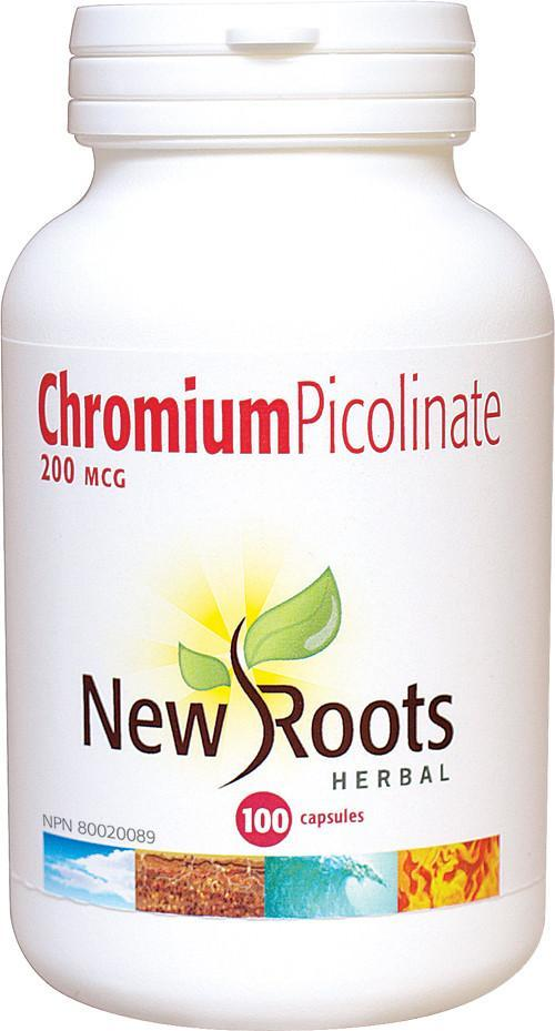 Supplements & Vitamins - New Roots Herbal - Chromium Picolinate 200mcg, 100 Capsules