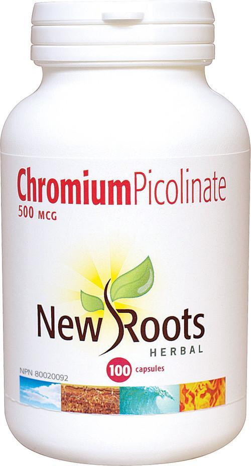 Supplements & Vitamins - New Roots Herbal - Chromium Picolinate 500mcg, 100 Capsules