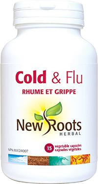 Supplements & Vitamins - New Roots Herbal - Cold & Flu, 15 CAPS
