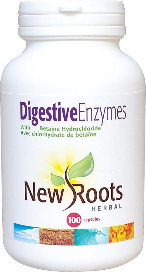 Supplements & Vitamins - New Roots Herbal - Digestive Enzymes, 100 Capsules