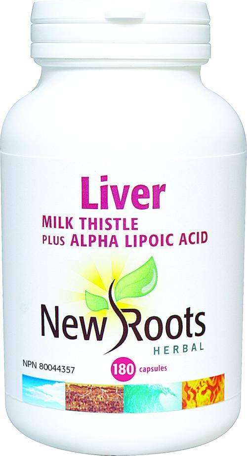 Supplements & Vitamins - New Roots Herbal - Liver - Milk Thistle, 180 Capsules