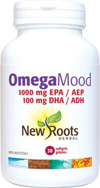 Supplements & Vitamins - New Roots Herbal - Omega Mood, 30 Soft Gels
