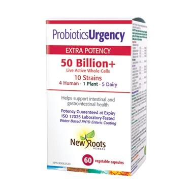 Supplements & Vitamins - New Roots Herbal - Probiotics Urgency, 60 CAPS