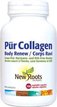 Supplements & Vitamins - New Roots Herbal - Pur Collagen Body Renew, 150 VCAPS