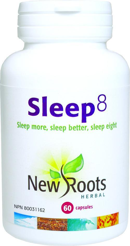Supplements & Vitamins - New Roots Herbal - Sleep 8, 60 Capsules