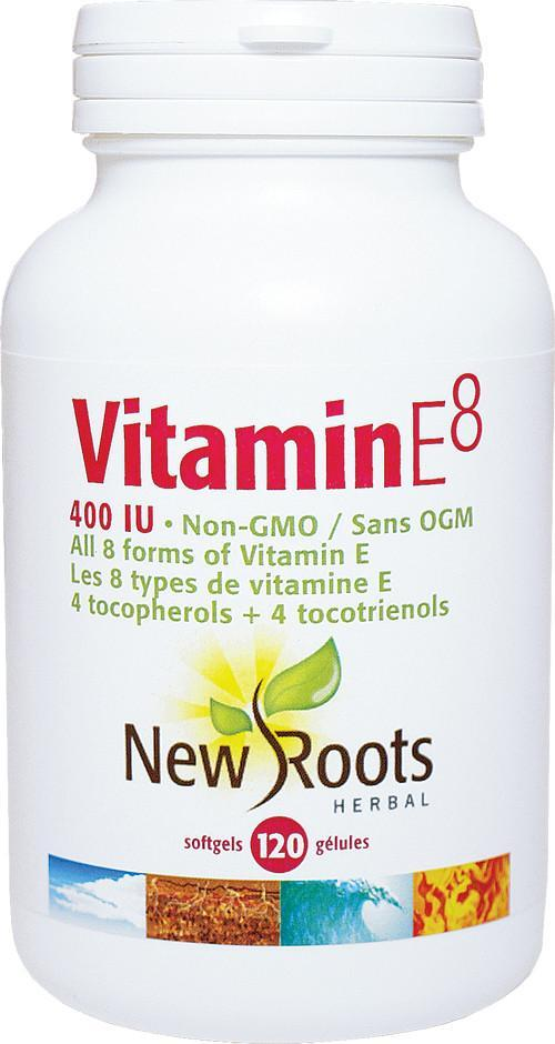 Supplements & Vitamins - New Roots Herbal - Vitamin E8, 120 Soft Gels