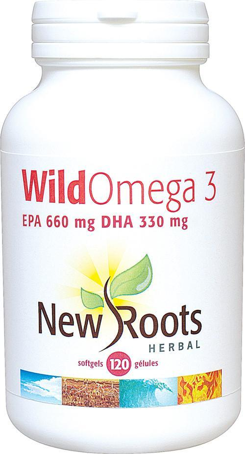 Supplements & Vitamins - New Roots Herbal - Wild Omega 3 660:330, 120 Soft Gels