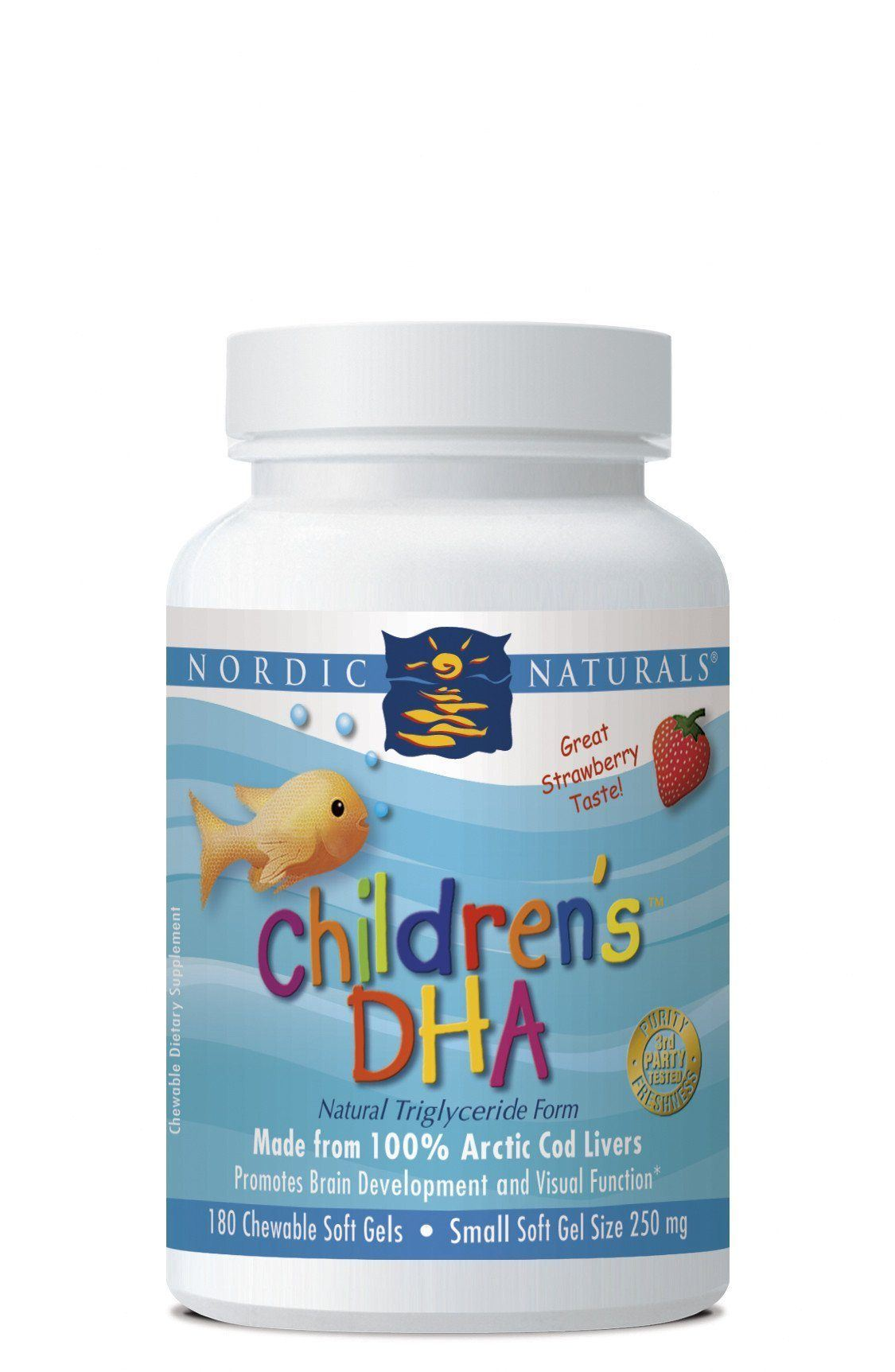 Supplements & Vitamins - Nordic Naturals - Children's DHA Strawberry, 180 Chewables