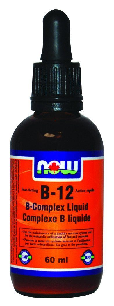 Supplements & Vitamins - NOW - B-12 Complex Liquid, 60ml