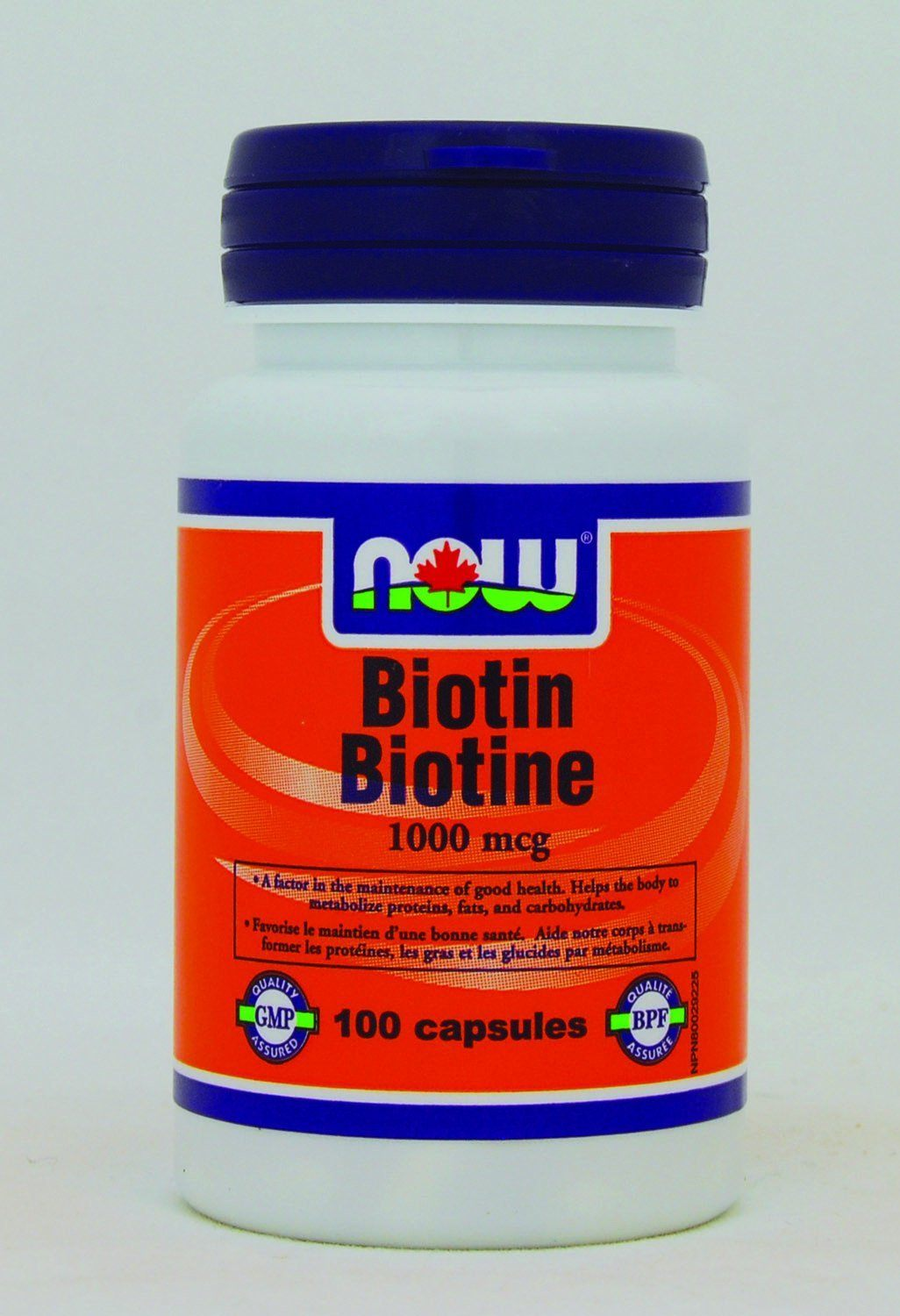 Supplements & Vitamins - NOW - Biotin, 100 Caps