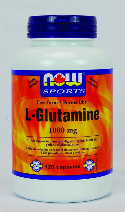 Supplements & Vitamins - NOW - L-Glutamine, 120 Capsules