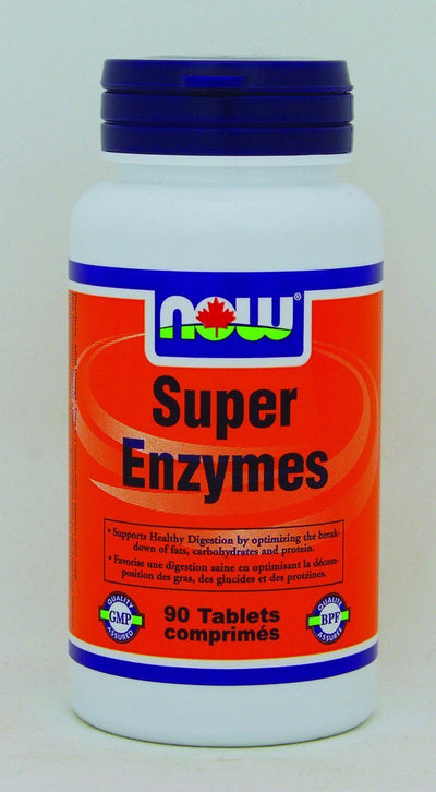 Supplements & Vitamins - NOW - Super Enzymes, 90 Capsules