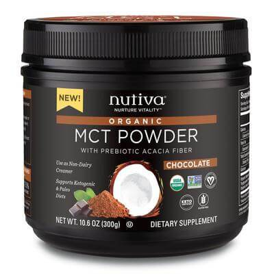 Supplements & Vitamins - Nutiva - Chocolate MCT Powder, 300g