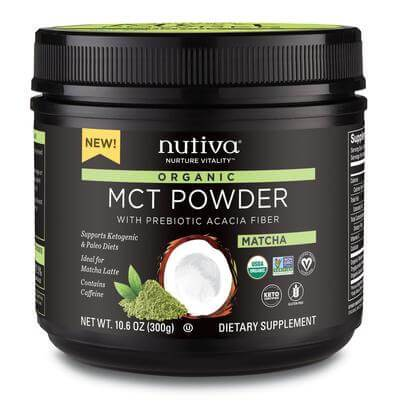 Supplements & Vitamins - Nutiva - Matcha MCT Powder, 300g