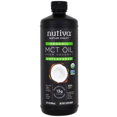 Supplements & Vitamins - Nutiva - Organic MCT Liquid Coconut Oil, 946ml