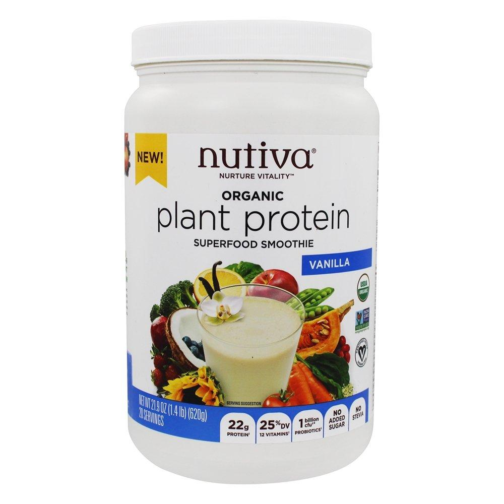 Supplements & Vitamins - Nutiva - Plant-Based Protein - Vanilla, 620g
