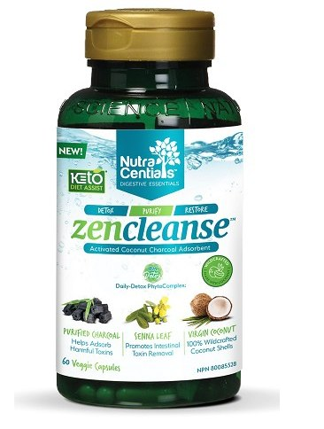 Supplements & Vitamins - Nutracentials - Zen Cleanse With Activated Charcoal, 60 V Caps