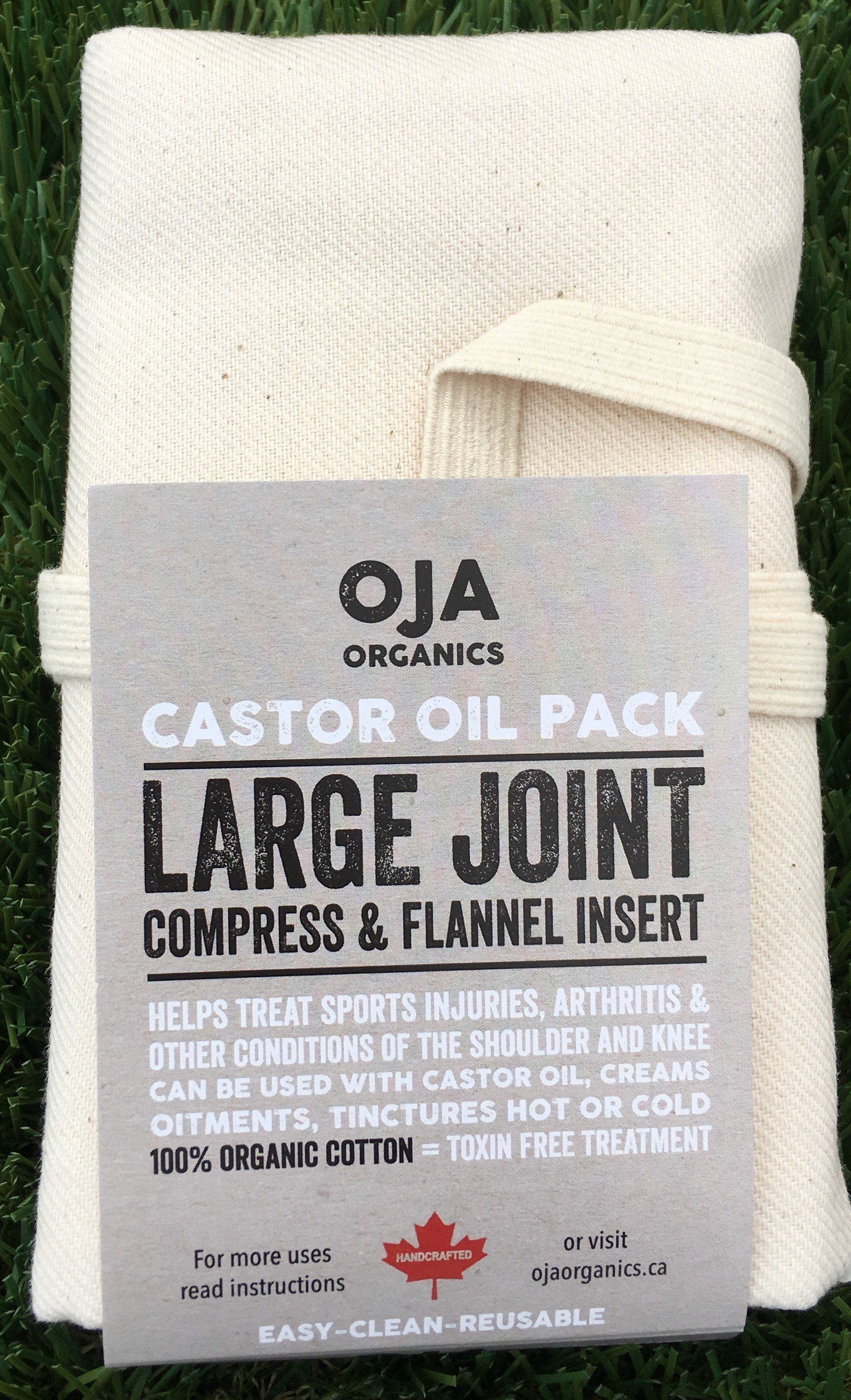 Supplements & Vitamins - Oja - Large Joint Castor Oil Pack