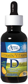 Supplements & Vitamins - Omega Alpha - Vitamin D - Natural Orange Flavour, 50ml