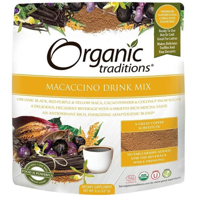 Supplements & Vitamins - Organic Traditions - Macaccino Drink Mix, 227g