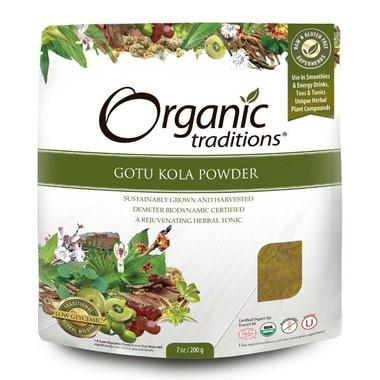 Supplements & Vitamins - Organic Traditions - Org Raw Gotu Kola - 200g
