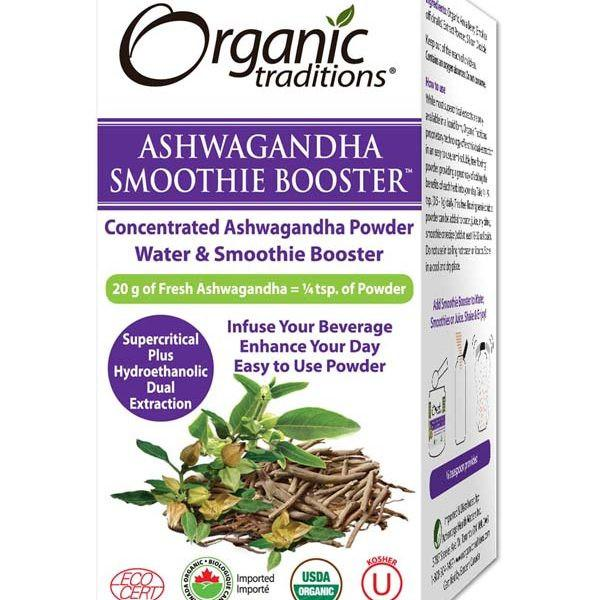 Supplements & Vitamins - Organic Traditions - Smoothie Booster Ashwagandha - 33g