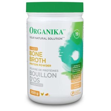 Supplements & Vitamins - Organika - Bone Broth Protein Powder With Ginger, 300g
